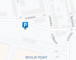 Parkoviště U Silnice - mapa